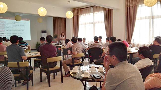 2015年7月,在ballbetapp下载科技园忧乐创客咖啡举办企业新三板的专题讲座